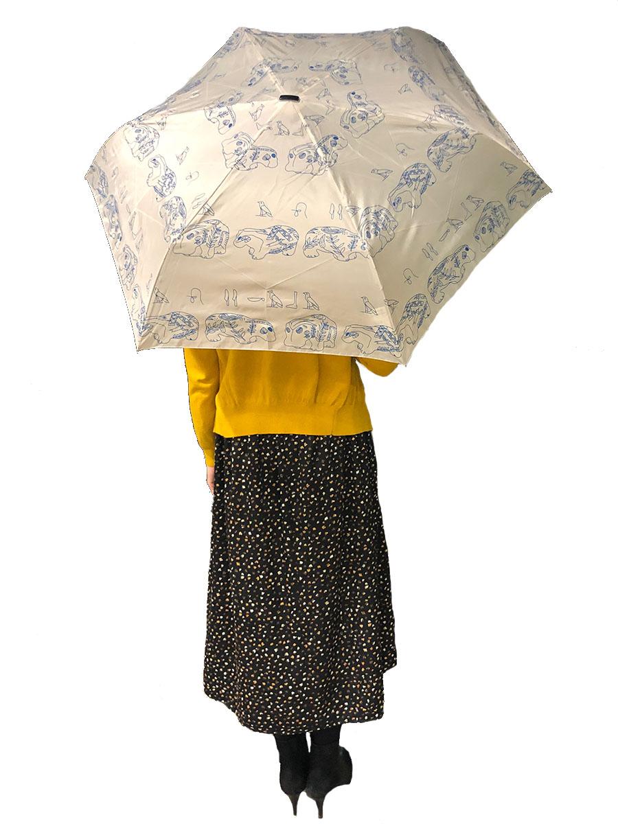 青カバの折りたたみ傘