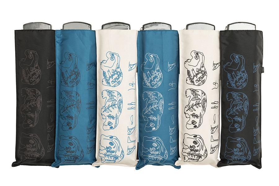 ポケフラアートシリーズの青カバ折り畳み傘